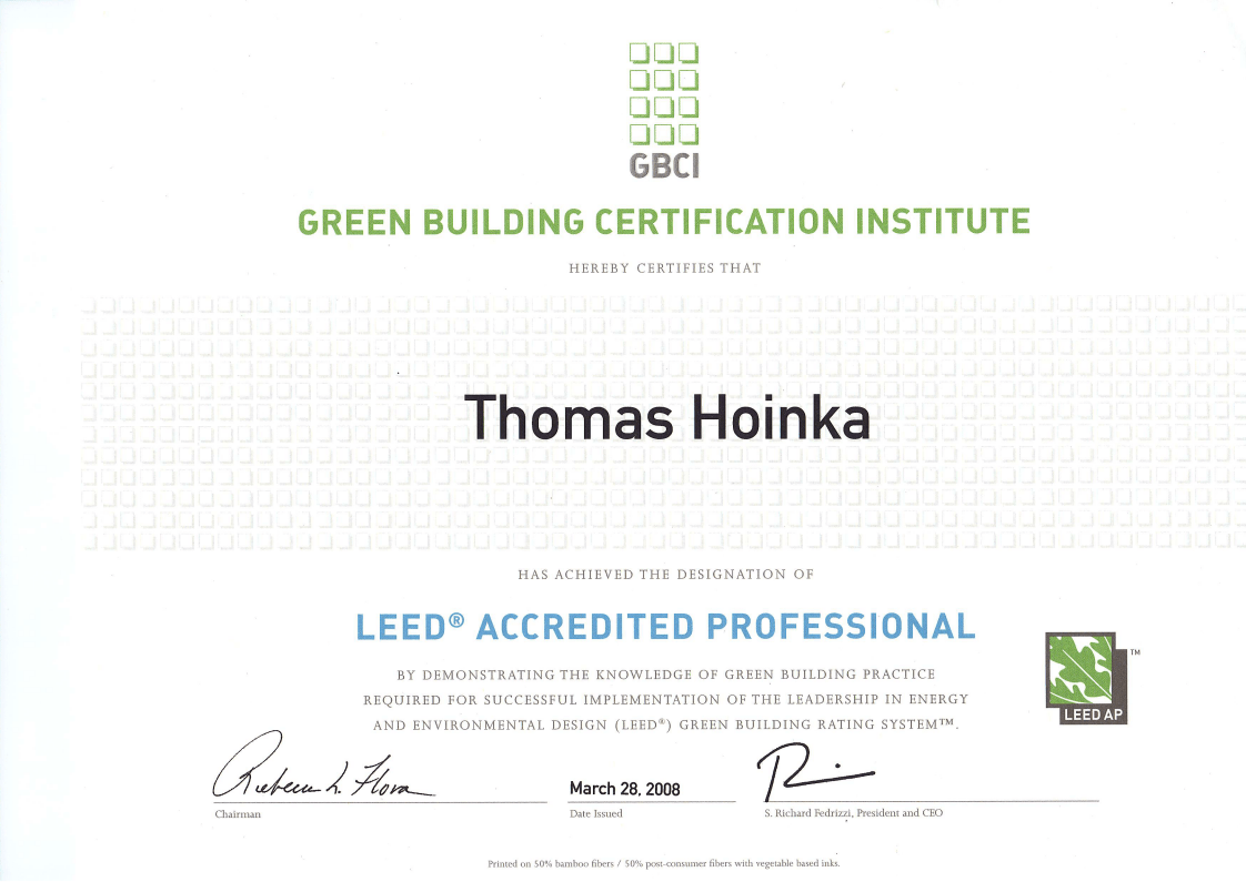 LEED_AP_Accredited_Professional_Thomas_Hoinka